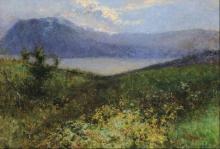 Leonardo Bazzaro, Paesaggio con lago