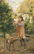 Leonardo Bazzaro, Pastorella con bambina