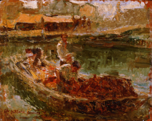 Leonardo Bazzaro, Pescatori a Chioggia