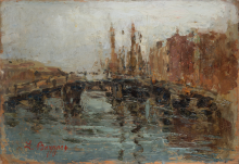 Leonardo Bazzaro, Ponte sul canale