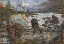 Leonardo Bazzaro, Raccolta del fieno - Cogne, Valle d'Aosta