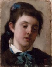 Leonardo Bazzaro, Ragazza con fiocco azzurro