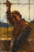 Leonardo Bazzaro, Ragazza nella serra | Jeune fille dans la serre