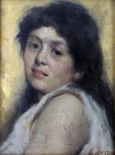 Leonardo Bazzaro, Ritratto di donna
