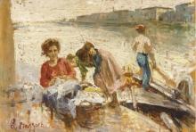 Leonardo Bazzaro, Sulla riva, Chioggia
