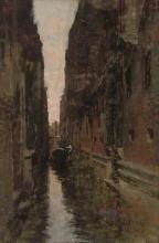 Leonardo Bazzaro, Un gondoliere su un canale veneziano