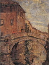 Leonardo Bazzaro, Veduta di Chioggia