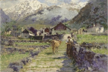 Leonardo Bazzaro, Villaggio di montagna