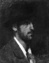 Leonardo Bazzaro, Ritratto dello scultore Eugenio Lombardi