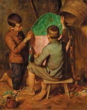 Bechi, Bambini che costruiscono un aquilone.jpg