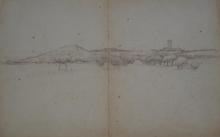 Bechi, Veduta di Castiglioncello con la torre medicea.jpg