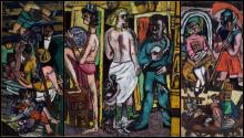 Max Beckmann, Acrobati (Trittico | Acrobaten (Triptychon) | Acrobats (Triptych)