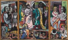 Max Beckmann, Attori (Trittico) | Schauspieler (Triptychon) | Actors (Triptych)