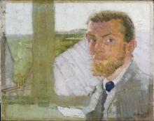 Max Beckmann, Autoritratto   Selbstbildnis   Self portrait [1905]