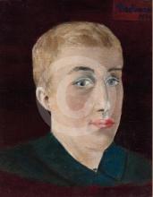 Max Beckmann, Autoritratto | Selbstbildnis | Self portrait [1899]