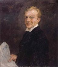 Max Beckmann, Autoritratto | Selbstbildnis | Self portrait [1910]