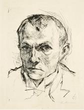 Max Beckmann, Autoritratto | Selbstbildnis | Self portrait [1914]