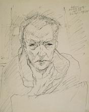 Max Beckmann, Autoritratto | Selbstbildnis | Self portrait [1917]