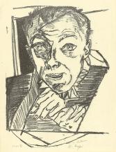 Max Beckmann, Autoritratto | Selbstbildnis | Self portrait [1918/19]