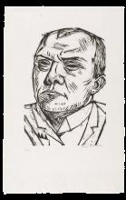 Max Beckmann, Autoritratto   Selbstbildnis   Self portrait (1905)