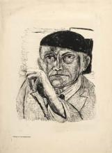 Max Beckmann, Autoritratto | Selbstbildnis | Self portrait [1946]