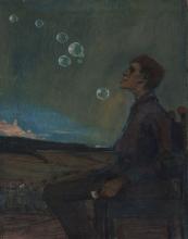 Max Beckmann, Autoritratto con bolle di sapone | Selbstporträt mit Seifenblasen | Self portrait with soap bubbles
