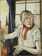 Max Beckmann, Autoritratto con foulard rosso   Selbstbildnis mit rotem Schal