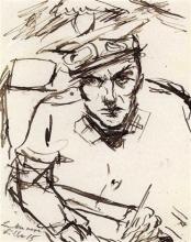 Max Beckmann, Autoritratto con l'uniforme da infermiere | Selbstbildnis mit Krankenpflegeruniform