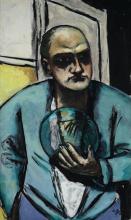 Max Beckmann, Autoritratto con palla di vetro | Selbstbildnis mit Glaskugel | Self portrait with crystal ball