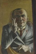 Max Beckmann, Autoritratto con sigaretta   Selbstbildnis mit Zigarette   Self portrait with a cigarette [1923]