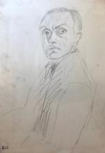 Max Beckmann, Autoritratto di mezzo profilo a sinistra | Selbstporträt im Halbprofil nach links