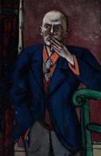Max Beckmann, Autoritratto in giacca blu | Selbstbildnis in blauer Jacke | Self portrait 1950