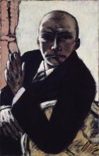 Max Beckmann, Autoritratto in nero | Selbstbildnis in Schwarz | Self portrait in black