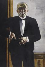 Max Beckmann, Autoritratto in smoking | Selbstbildnis im Smoking | Self portrait in tuxedo