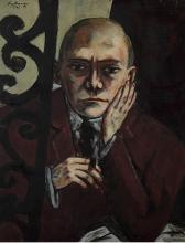 Max Beckmann, Autoritratto nel bar | Selbstbildnis in der Bar