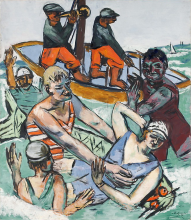 Max Beckmann, Bagno in agosto | Bad im August | Swimming in August