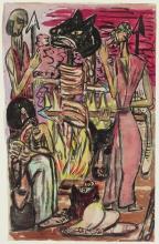 Max Beckmann, Banchetto sacrificale   Opfermahl   Sacrificial meal