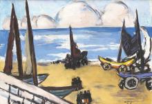 Max Beckmann, Barche sulla spiaggia | Boote am strand