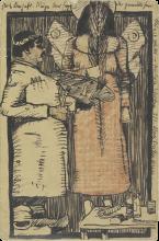 Max Beckmann, Biglietto di Capodanno per il pittore Ugi Battenberg | Neujahrskarte für den Maler Ugi Battenberg