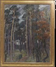 Max Beckmann, Bosco di Hermsdorf in una giornata grigia | Hermsdorfer Wald am grauen Tag