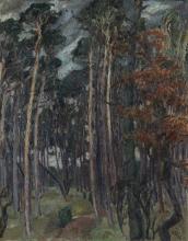 Max Beckmann, Bosco di Hermsdorf in una giornata grigia   Hermsdorfer Wald am grauen Tag