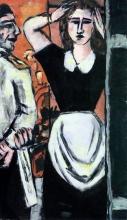 Max Beckmann, Cameriere e guardarobiera | Kellner und Garderobenmädchen | Waiter and cloakroom girl
