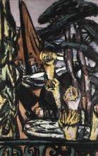 Max Beckmann, Cap Martin con fiori gialli | Cap Martin mit gelben Blumen