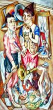 Max Beckmann, Carnevale   Fastnacht   Carnival [1920]
