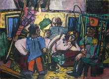 Max Beckmann, Carro del circo | Zirkuswagen | The circus carriage