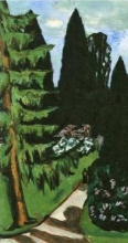 Max Beckmann, Cipressi di Eyckenstein | Eyckenstein-Zypressen | Eyckenstein Cypresses