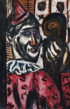 Max Beckmann, Clown, rosa-viola | Clown, rosaviolett