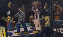 Max Beckmann, Contadini che portano legna (Ritorno a casa) | Bauernholzträger (Heimkehrende)