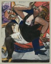Max Beckmann, Coppia seduta   Sitzendes Paar