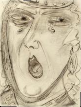 Max Beckmann, Crimilde urlante | Schreiende Kriemhild
